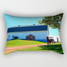 Carriage Ride Through Time Rectangular Pillow