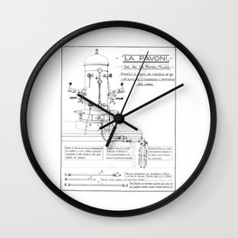 La Pavoni Patent Drawing Poster (Very Old & Rare) Wall Clock