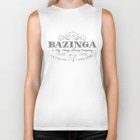 bazinga Biker Tanks featuring Bazinga Vintage by Nxolab