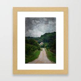 Peekaboo Barn Framed Art Print