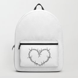 Heart shape of barbed wire Backpack