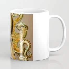 Vintage Golden Octopus Coffee Mug