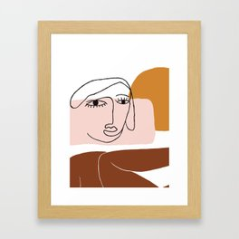 Hey Lady Framed Art Print