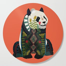 panda orange Cutting Board