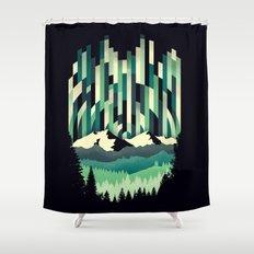Sunrise in Vertical - Winter Blues Shower Curtain