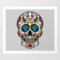 mexican Art Prints featuring Mexican Skull by Pancho the Macho