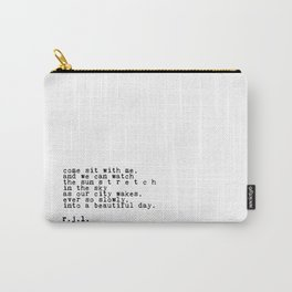 Typewriter Thoughts #1 - s t r e t c h Carry-All Pouch