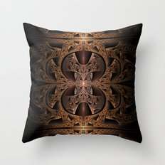 Steampunk Engine Abstract Fractal Art Throw Pillow