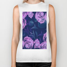 Floating roses with petals Biker Tank
