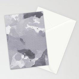 Pantone Lilac Gray Splatters Watercolor Camo Pattern Stationery Cards