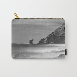 Water. Volcanic rocks. Monochrome Carry-All Pouch