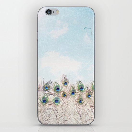 Fly Over A Peacock Field iPhone & iPod Skin