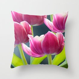 Tulip Bouquet Spring Atmosphere #decor #society6 #buyart Throw Pillow
