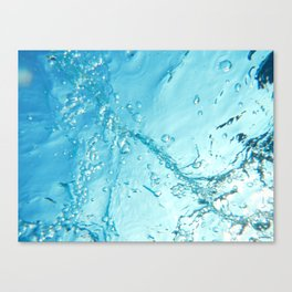 Bubble Trail Underwater Photo Canvas Print