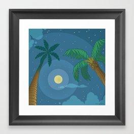 Supermoon Over Aruba Framed Art Print