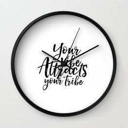 GOOD VIBES ONLY,Printable Art,Home Decor,Inspirational Poster,Typographic Print,Dorm Room,Your Vibe Wall Clock