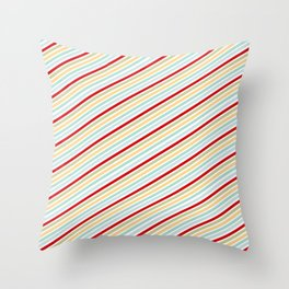 All Striped Throw Pillow
