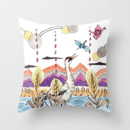 Crane Gang Throw Pillow