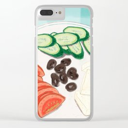 Fresh Home-cooked Turkish Breakfast Clear iPhone Case