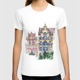 Watercolor architecture sketch T-shirt