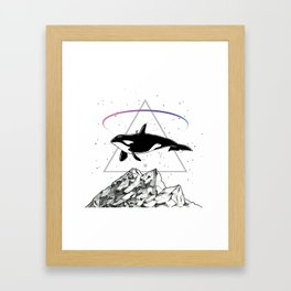 Trip to the Mountains Framed Art Print