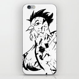 Man Eating Chicken 003 iPhone Skin