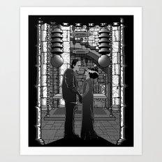 The Monster's bride. Art Print