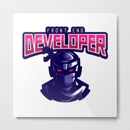 Ninja Front End Developer Metal Print