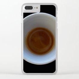 espresso coffee in cup Clear iPhone Case