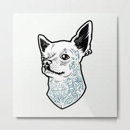Tattooed Chihuahua Metal Print