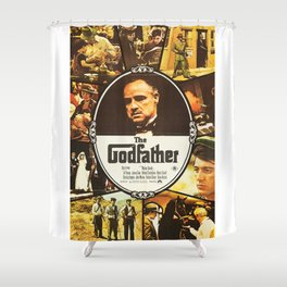 The Godfather, vintage movie poster Shower Curtain