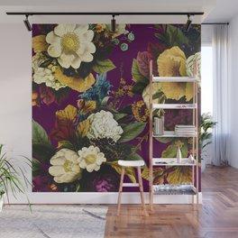 Wildflower Melancholy Maroon Wall Mural