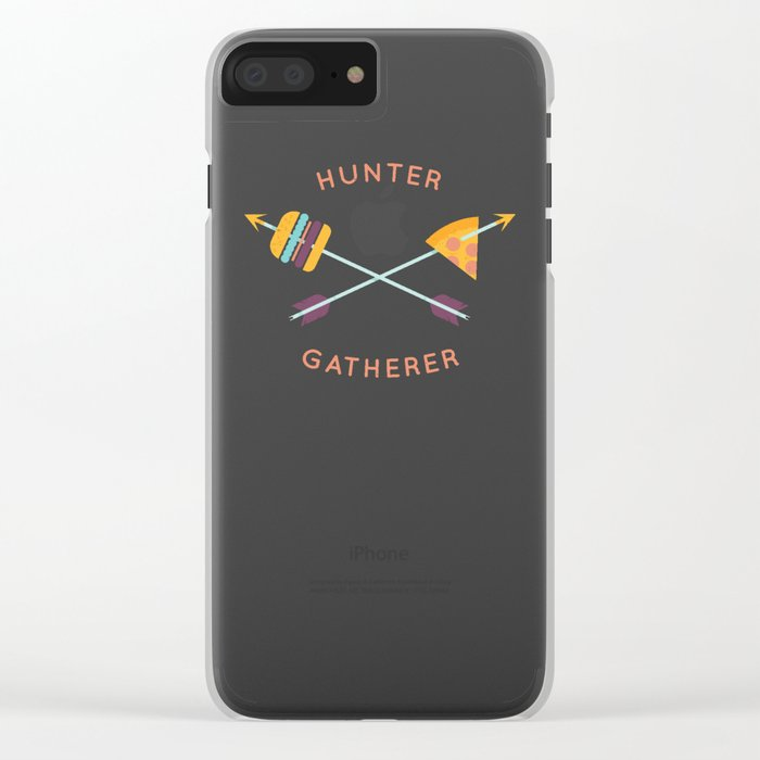 Hunter Gatherer Clear iPhone Case