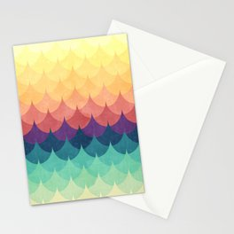 Sailing in Rainbow Waves Stationery Cards