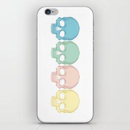 Pastel death iPhone Skin