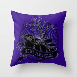 Darwin's Finches Throw Pillow