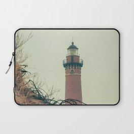 Little Sable Point Lighthouse Lantern Room over the Dune Haze Laptop Sleeve