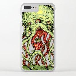 Alien attack Clear iPhone Case