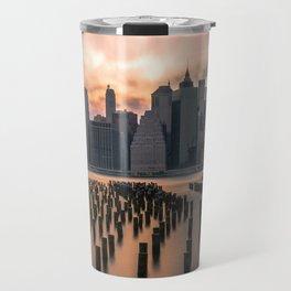 New york city long exposure Travel Mug