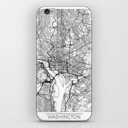 Washington Map White iPhone Skin