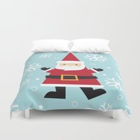 santa Duvet Covers featuring Santa by Claire Lordon