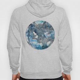 Blue Labyrinth Hoody