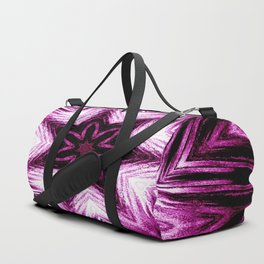 Bright Dark Violet Wine Red Abstract Blossom #purple #kaleidoscope Duffle Bag
