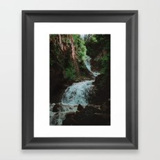 Alaska Waterfall Framed Art Print
