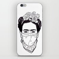 rebel iPhone & iPod Skins featuring Rebel by Diego La Diabla