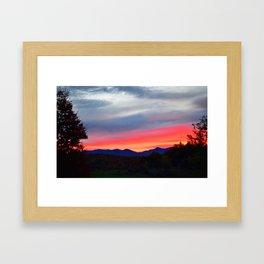 Vermont Sunrise Framed Art Print