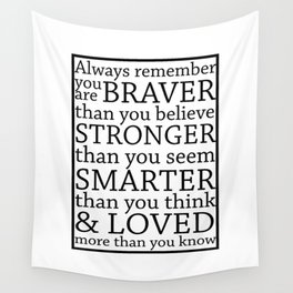 Always Remember Wall Tapestry
