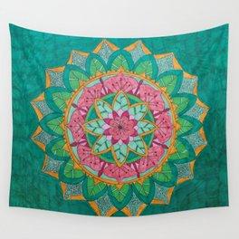 Pink Flower Mandala Wall Tapestry