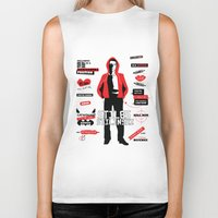 stiles Biker Tanks featuring Stiles Stilinski Quotes Teen Wolf by Alice Wieckowska