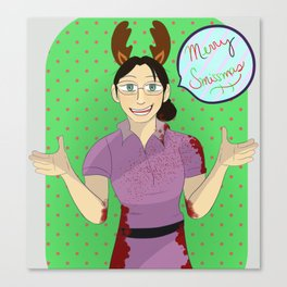 Merry Smissmas from Miss Pauling Canvas Print